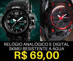 b42da9315a3 Relógio Digital e Analógico Skmei Original à Prova d água