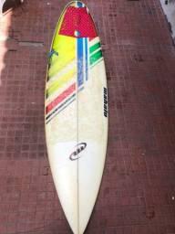 Prancha Mahalo branca 6'4 prancha D.style 5'9