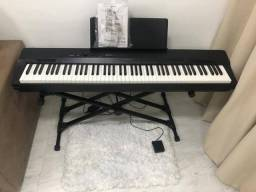 Piano digital Casio px-160 + estante profissional+ pedal de piano+ capa