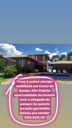 Baixou pra vender 999 mil casa 4 suítes Costa Sauípe mobiliada