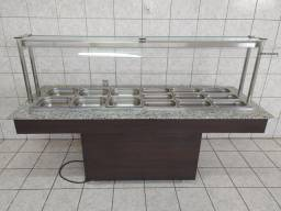 3 Pistas - Balcão Buffet Refrigerado