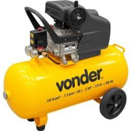 Motocompressor Compressor de Ar 50 Litros Com Duas Saídas de Ar