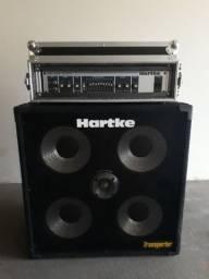Cabeçote Hartke HA2500 + Hard Case + Caixa Hartke Transporter 4x10