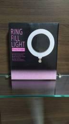 Ring Light C/ Tripé 16cm 3 Variações De Luz - Ring Fill Light
