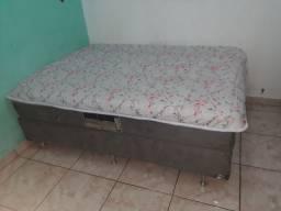 Vendo cama de casal box mola enssacada