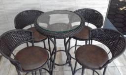 Bistrô com Moldura 4 Cadeiras Area Gourmet Sacada Apartamento Piscina Jardim Varanda