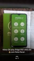 Moto G8 play 64gb novo
