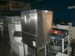 Maquina de lavar louça industrial - inox - hobart