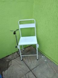 Cadeira em ferro e inox para farmacia ou consultório
