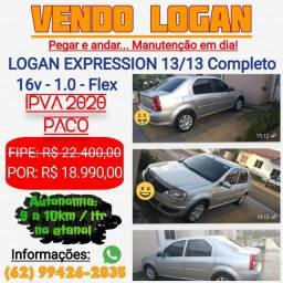 Logan Expression 1.0 16v 13/13 Completo