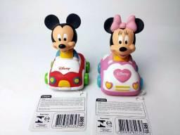 Kit 02 Unidades Carrinho De Brinquedo Disney Mickey E Minie