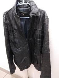 Jaqueta de couro feminina preta