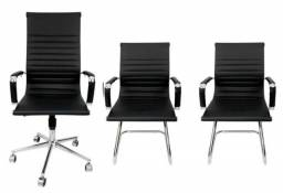 Combo 3 Cadeiras Presidente Interlocutor Esteirinha - Charles Eames