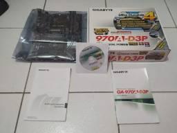 Placa-mãe Gigabyte 970A-D3P AM3 com defeito
