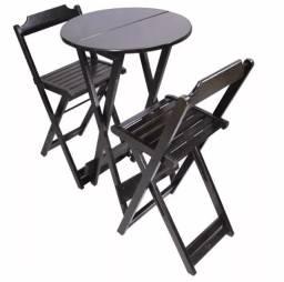 Conjunto Bistro alto com 2 cadeiras -Promoçao