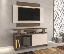 Rack com painel para TVs de até 50 polegadas