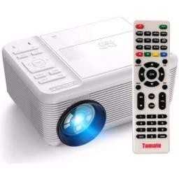 Projetor Led 700 Lumens Com Dvd Av Hdmi Vga Usb MicroSD 1080p MTM-7010