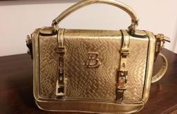 Bolsa dourada nova e linda