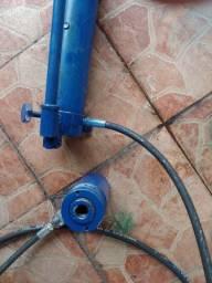 Conjunto hidráulico cilindro vazado