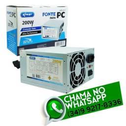 Fonte Energia para Computador 200w * Entrega R$ 10 * Chame no Whats