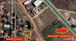 Lote, Buriti Sereno, á 150m do Anel Viário, apenas, R$65mil (quitado)
