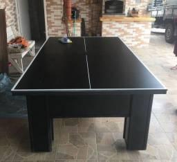Promoção! Mesa de sinuca/bilhar com tampo para ping pong.