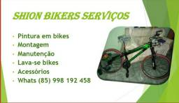 Pinturas e serviços em bikes
