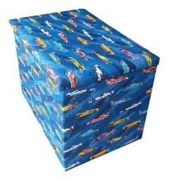 Puff Bau Infantil 60x40x45 Grande Para Guardar Brinquedos