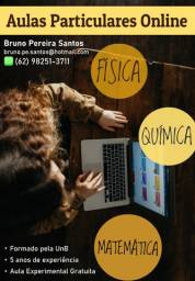 Aulas Particulares Online - Primeira aula Gratuita (Física, Química e Matemática)