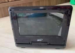 DVD Midi Portátil (com suporte para assento do veículo)_Estado de NOVO