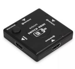 (NOVO) Adaptador Switch 3x1 Divisor 3 Portas Hdmi Tv Not Ps3 Xbox