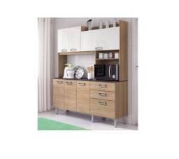 Cozinha Compacta Itatiaia com Balcão - 7 Portas 2 Gavetas