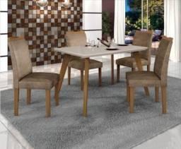 Conjunto Mesa de Jantar Lavinia 4 Cadeiras ? Leifer ? 90x90cm
