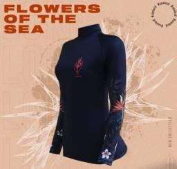 Lycra feminina p/ Surf e esportes aquáticos