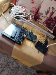 Conversor antena Dvd e Roteador