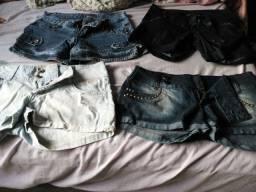 4 shorts feminino