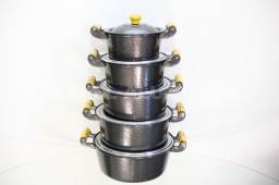 Jogo de panelas de aluminio batido