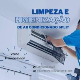 Limpeza e Higienização de ar condicionado split