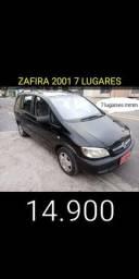 Zafira completa 7 lugares 2001