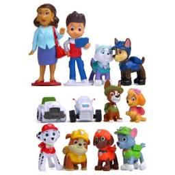 12pçs pata patrulha brinquedo conjunto 4-10cm, anime, figura de ação