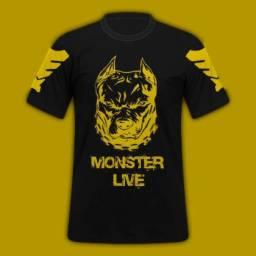 Camisa personalizada para suas paixões Pit Bull moster