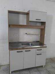 Cozinha compacta com pia inox nova