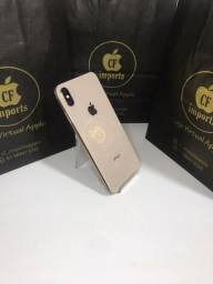 IPhone XS max 64gb dourado com garantia com capa e película de vidro de brinde