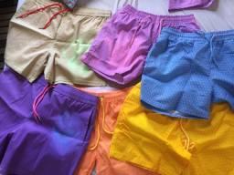 Shorts que muda de cor (calor/água)