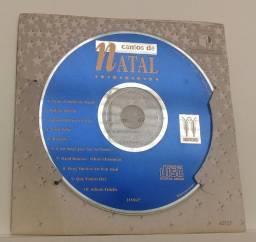 """CD Cantos de Natal (Cartão CD """"Vellas""""). Original. Bem conservado."""