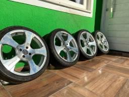 Rodas 17 com pneus  - 4x100 - R$ 1.400.00