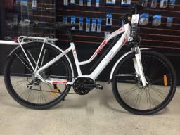 Bicicleta Eletrica Italwin Trail Advanced 2 - Branco/Vermelho