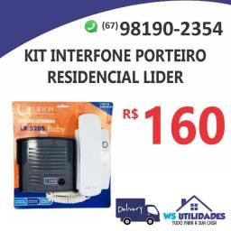 Kit Interfone Porteiro Eletrônico Residencial Lider