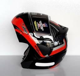 Capacete Moto Articulado Gladiator Escamoteável Robocop Protork