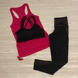 Conjunto fitness para musculação